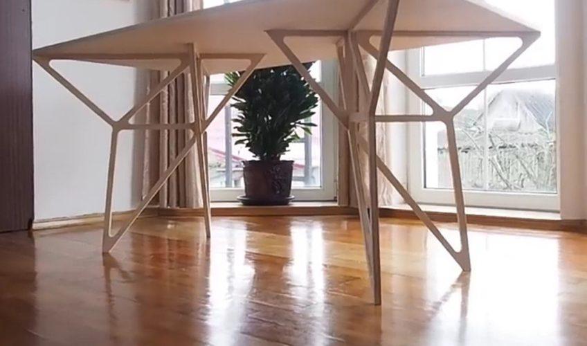 стол с необычными ножками