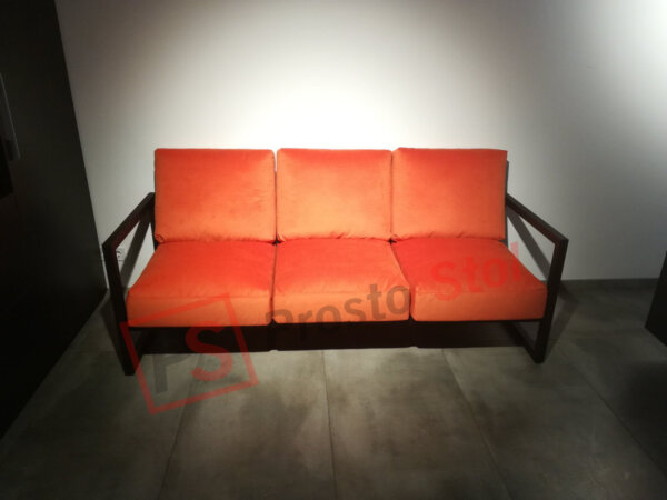 металлический диван лофт